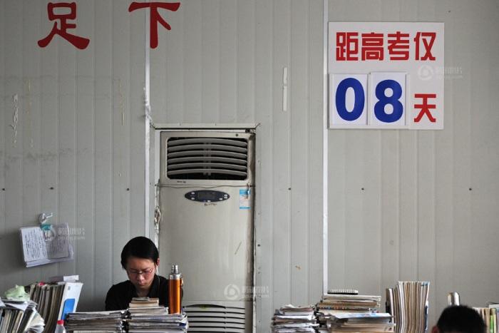 Как китайские студенты готовились к экзаменам в вузы. Фото: secretchina.com