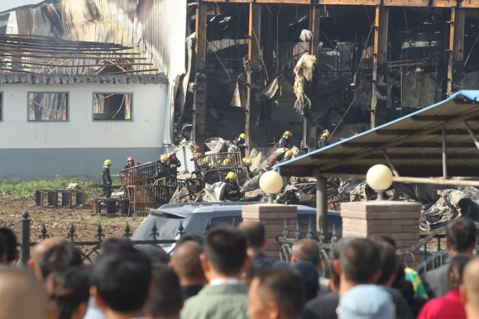 В Китае 120 человек погибли в результате пожара на птицефабрике. Фото с epochtimes.com