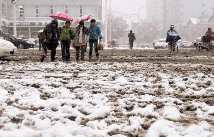 На север Китая обрушились аномальные снегопады. Фото: epochtimes.com