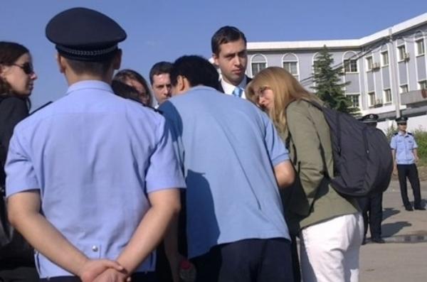 Дипломатические представители Европейского союза (ЕС) за пределами суда. Фото с epochtimes.com