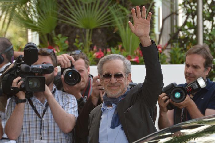 НАС директор и председатель жюри Стивен Спилберг  на открытии Каннского кинофестиваля 15 мая 2013 года. Фото: ALBERTO PIZZOLI/AFP/Getty Images