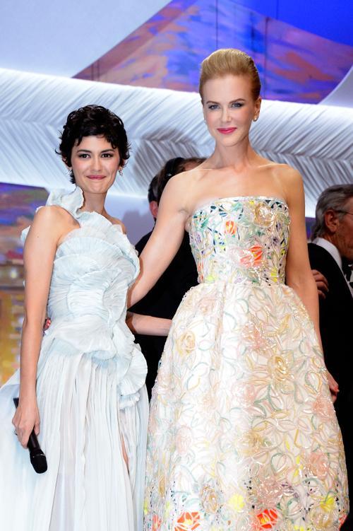 Одри Тату и Николь Кидман на открытии Каннского кинофестиваля 15 мая 2013 года. Фото: Pascal Le Segretain/Getty Images