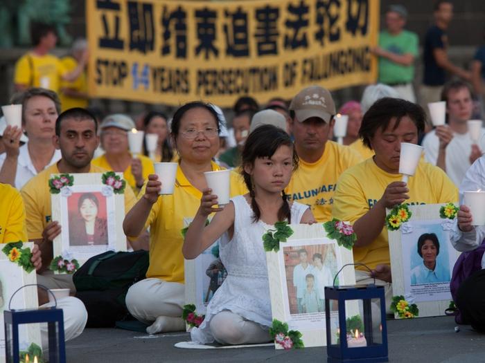 Акция памяти сторонников Фалуньгун, погибших в результате репрессий в Китае. Копенгаген, Дания. Июль 2013 года. Фото: The Epoch Times