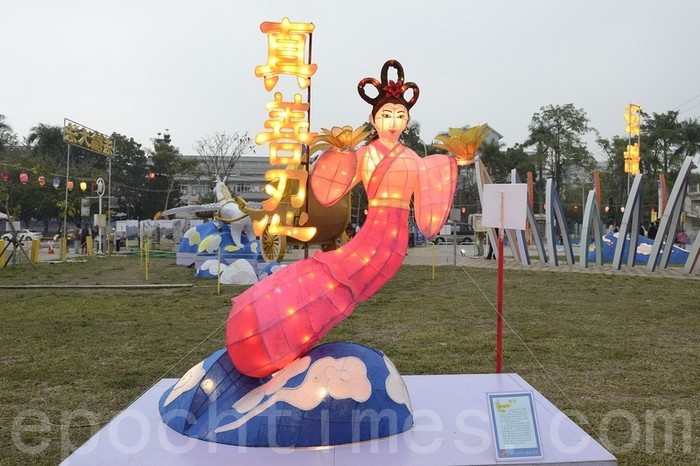 Скульптура «Парящая богиня». Тайвань. 2014 год. Фото: The Epoch Times