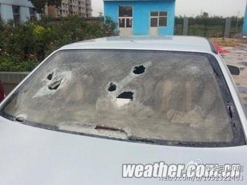 В Китае выпал аномально крупный град. Июнь 2013 года. Фото с epochtimes.com