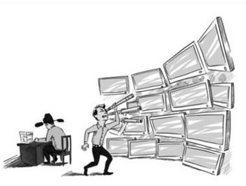 За китайскими блогерами следят два миллиона шпионов. Рисунок с epochtimes.com