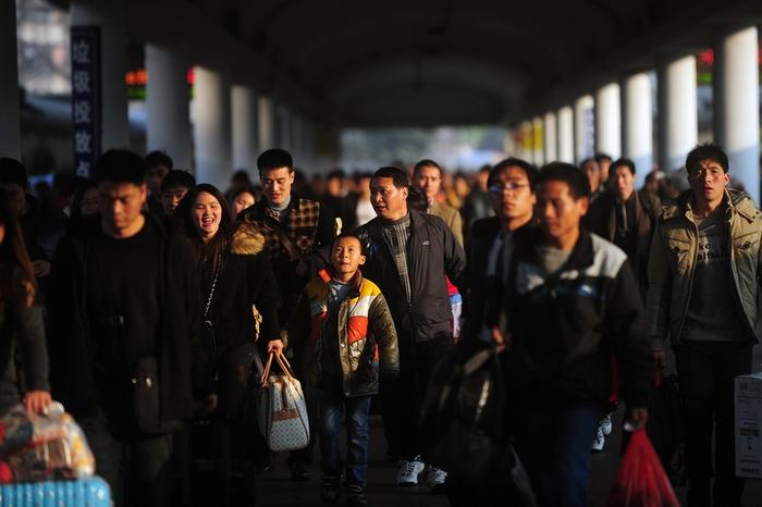 В Китае началась «новогодняя миграция». Январь 2014 года. Фото с epochtimes.com