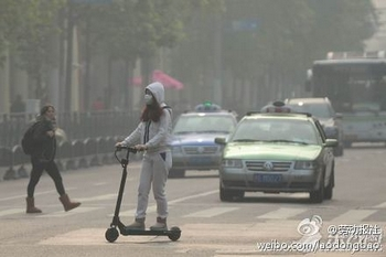 Смог в Шанхае. 2013 год. Фото с epochtimes.com