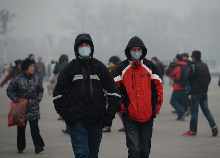 Смог в Пекине. Февраль 2014 года. Фото: STR/AFP/Getty Images