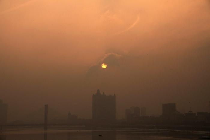 Смог в Китае. Январь 2014 года. Фото с epochtimes.com