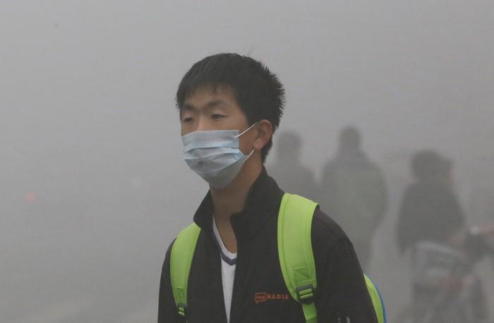 Смог в Китае. Октябрь 2013 года. Фото с epochtimes.com