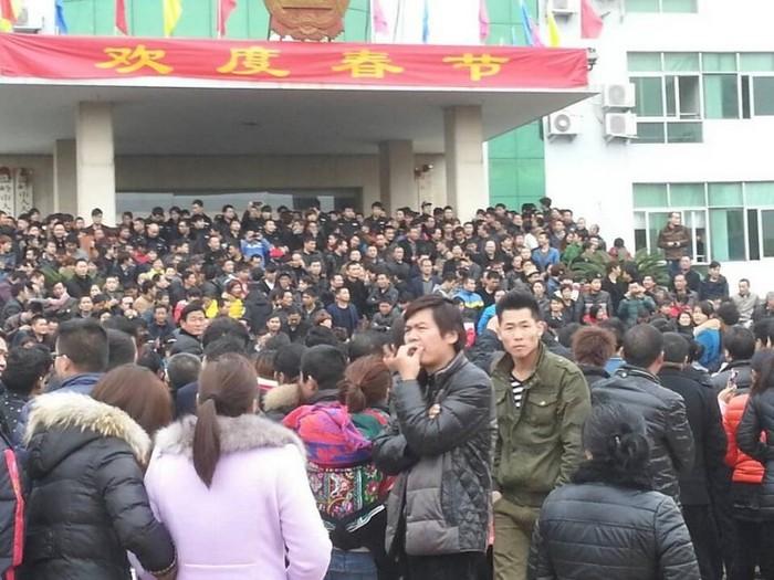 Протесты предпринимателей. Город Вэньлин. Февраль 2014 года. Фото с epochtimes.com