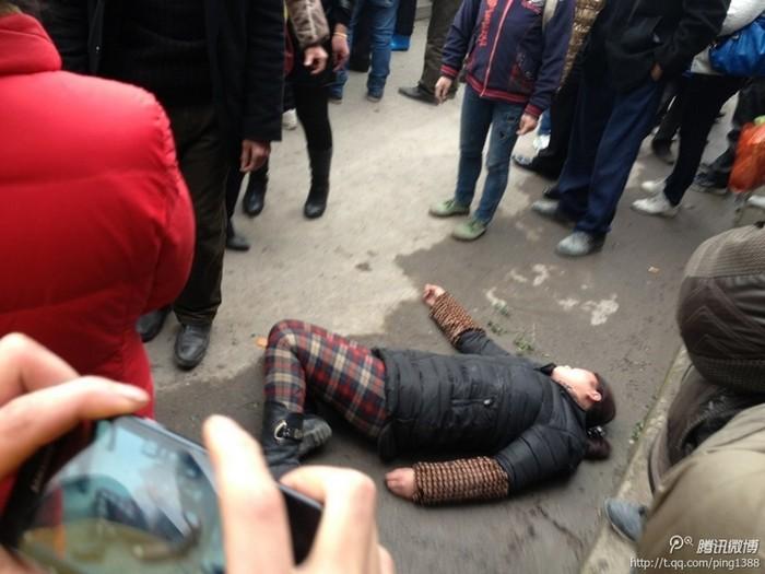 Протест крестьян. Провинция Сычуань. Февраль 2014 года. Фото с epochtimes.com