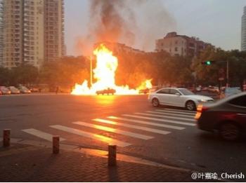 Взрыв газопровода. Город Вэньчжоу провинции Чжэцзян. Ноябрь 2013 года. Фото с epochtimes.com