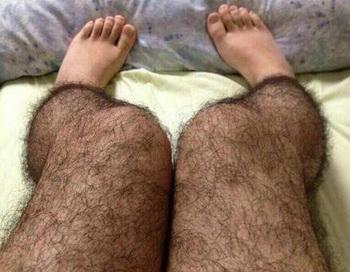 Хотите «отшить» извращенцев (или женихов)? Попробуйте надеть пару «волосатых» колготок. Фотография таких колготок очень популярна в последнее время в Китае. Фото: Weibo.com