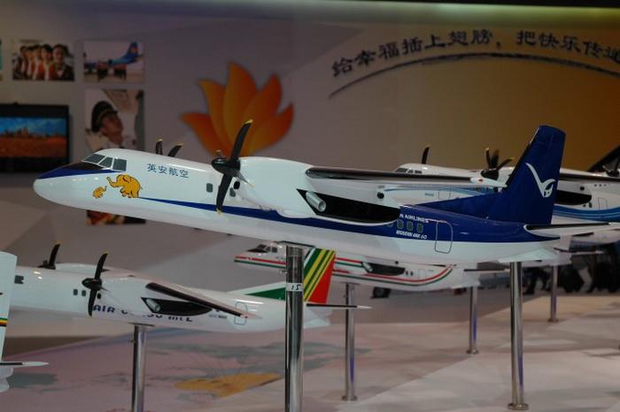 Модели MA60 на Китайской международной авиационной и аэрокосмической выставке, Чжухай, ноябрь 2012 года. Фото: Michael Blank