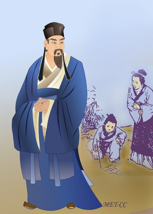 Оуян Сю — вдохновитель литературной реформы в период правления династии Северная Сун. Иллюстрация: Catherine Chang/Великая Эпоха (The Epoch Times)