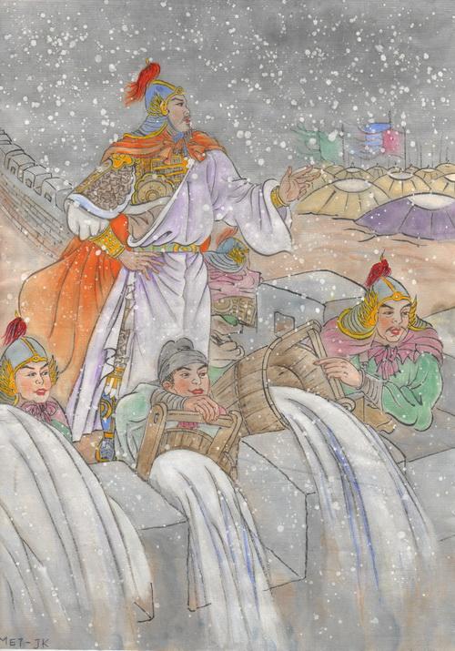 Яньчжао — выдающийся генерал Северной династии Сун. Иллюстрация: Jane Ku/Великая Эпоха (The Epoch Times)
