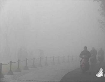 В Пекине смог парализовал транспортное сообщение. Фото: epochtimes.com