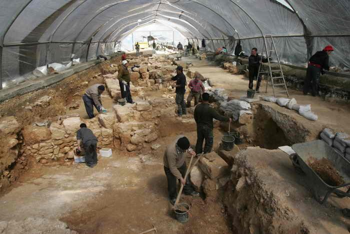 Израиль. Археологические раскопки. Фото: MENAHEM KAHANA/AFP/Getty Images