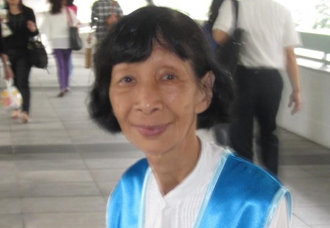 Юн Мэй-Ван, 17 сентября 2013 года, Гонконг. Она была одним из истцов, которые успешно оспорили свой арест в Высшем апелляционном суде. Фото: Epoch Times