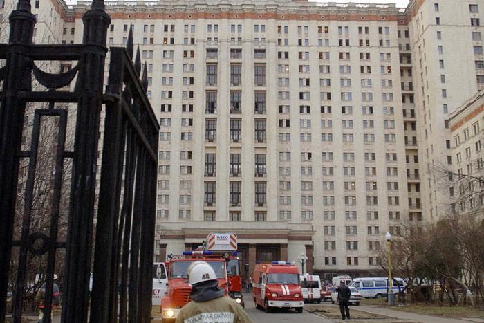Пожар в главном здании МГУ ликвидирован. Фото: BORIS LAZOV/AFP/Getty Images