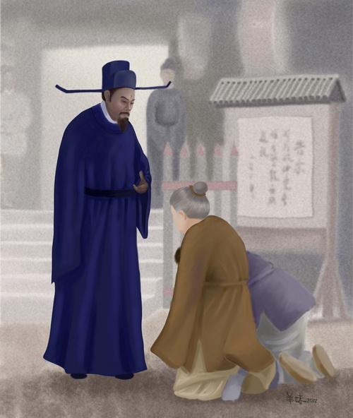 Судья Бао Чжэн — символ правосудия и справедливости. Иллюстрация: SM Yang/Великая Эпоха (The Epoch Times)