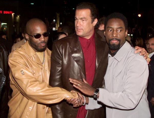 Стивен Сигал, рэпер DMX и Айзиа Вашингтон на премьере  фильма «Сквозные ранения» в Лос-Анджелесе. Фото: Kevin Winter/Getty Images