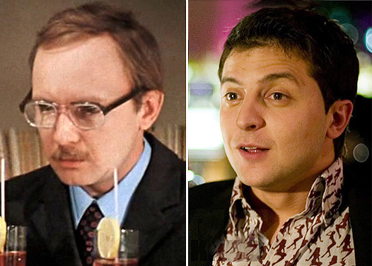 Андрей Мягков и Владимир Зеленский. Фото с сайта spletnik.ru