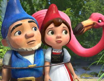 Кадр из анимационного фильма «Гномео и Джульетта». Фото с сайта filmz.ru