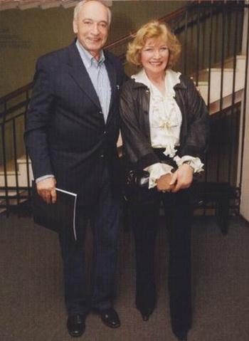 Валентин Гафт с супругой Ольгой Остроумовой. Фото с сайта o-ostroumova.narod.ru
