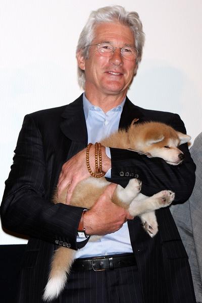 Актер Ричард Гир на показе фильма «Хатико: Самый верный друг» в Токио, Япония, в июле 2009. Фото: Junko Kimura/Getty Images