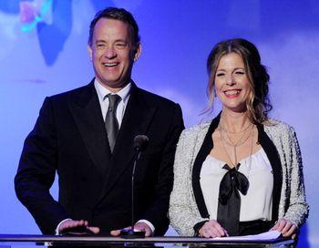 Том Хэнкс с супругой Ритой Уилсон. Фото: Kevin Winter/Getty Images