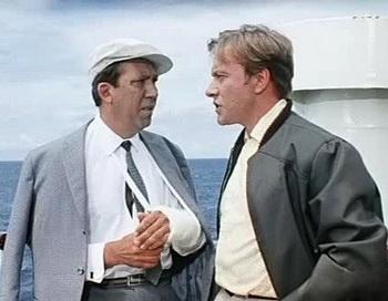 Юрий Никулин и Андрей Миронов в комедии «Бриллиантовая рука». Фото с сайта irc.lv