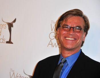 Сценарист Аарон Соркин на церемонии вручения призов Гильдии сценаристов США. Фото: Alberto E. Rodriguez/Getty Images