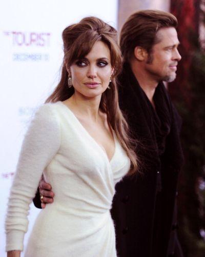 «Турист», мировая премьера в Нью-Йорке. Актеры Анджелина Джоли и Брэд Питт. Фото: Stephen Lovekin/Getty Images