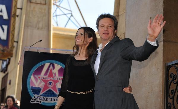 «Король говорит!». Актер Колин Фёрт с супругой Ливией Джиуджиолли на церемонии присуждения Фёрту Звезды на Голливудской Аллее Славы. Фото: ROBYN BECK/AFP/Getty Images