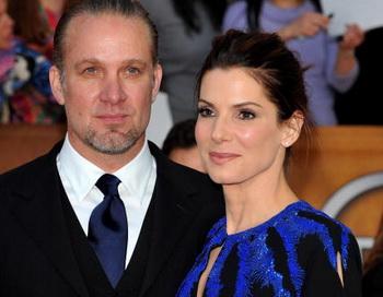 Актриса Сандра Буллок с супругом Джесси Джеймсом. Фото: Alberto E. Rodriguez/Getty Images