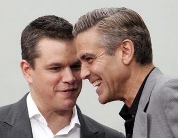 Актеры Мэтт Дэймон и Джордж Клуни. Фото: GABRIEL BOUYS/AFP/Getty Images