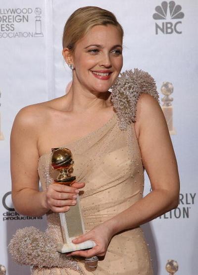 67 ежегодная церемония вручения «Золотого глобуса» в Беверли-Хиллс, Калифорния. Актриса Дрю Берримор. Фото: VALERIE MACON/AFP/Getty Images