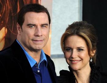 Джон Траволта с супругой актрисой Келли Престон на премьере фильма «последняя песня» в Голливуде, Калифорния. Фото: GABRIEL BOUYS/AFP/Getty Image