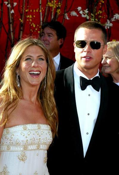 Брэд Питт - голубоглазый и везучий. «Золотая пара» Голливуда Брэд Питт и Дженнифер Энистон. Фото: Kevin Winter/Getty Images