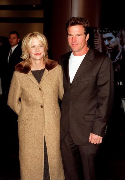 Мег Райан с бывшим супругом на премьере картины «Спаситель». Фото: Dan Callister/Online USA