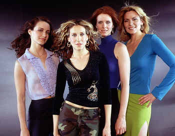 Актрисы Кристин Дэвис, Сара Джессика Паркер, Синтия Никсон и Ким Кэтролл. Фото: HBO/Newsmakers