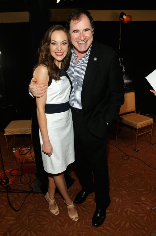 Лаура Оснес и Ричард Кинд на пресс-приёме в Нью-Йорке. Фото: Jemal Countess/Getty Images for Tony Awards Productions