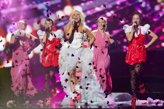 Криста Зигфридс из Финляндии выступила на генеральной репетиции перед 2 полуфиналом Евровидения-2013. Фото:  Ragnar Singsaas/Getty Images