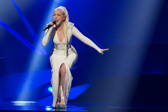 Маргарет Бергер из Норвегии выступила на генеральной репетиции перед 2 полуфиналом Евровидения-2013. Фото:  Ragnar Singsaas/Getty Images