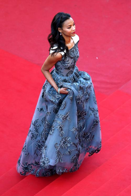 Зои Салдана на Каннском кинофестивале 2013. Фото: Andreas Rentz/Getty Images