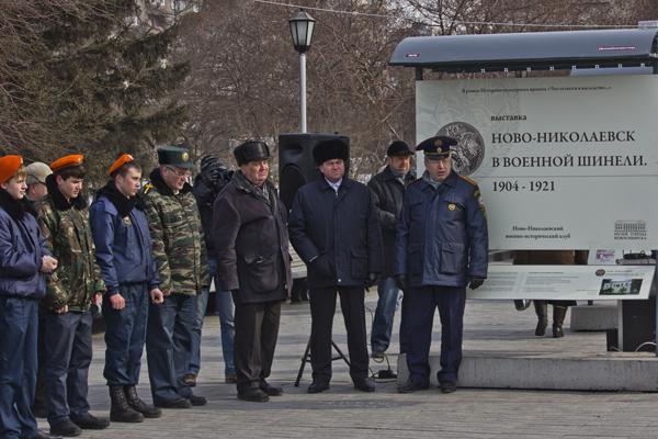 Ново-Николаевск в военной шинели. Фото: Сергей Кузьмин/Великая Эпоха (The Epoch Times)