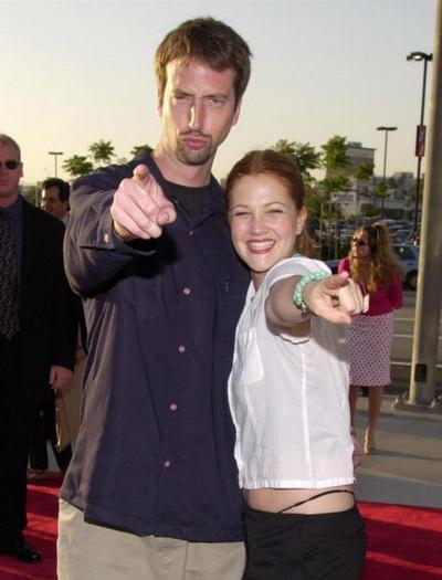 Дрю Бэрримор с бывшим супругом – актером Томом Грином. Калифорния, 2000 год. Фото: Chris Weeks/Getty Images